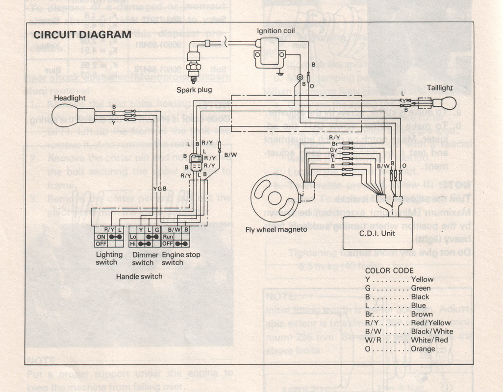 1980s Kawasaki Kdx 200 Wiring Diagram Library Columbia Tv Diagrams It425g