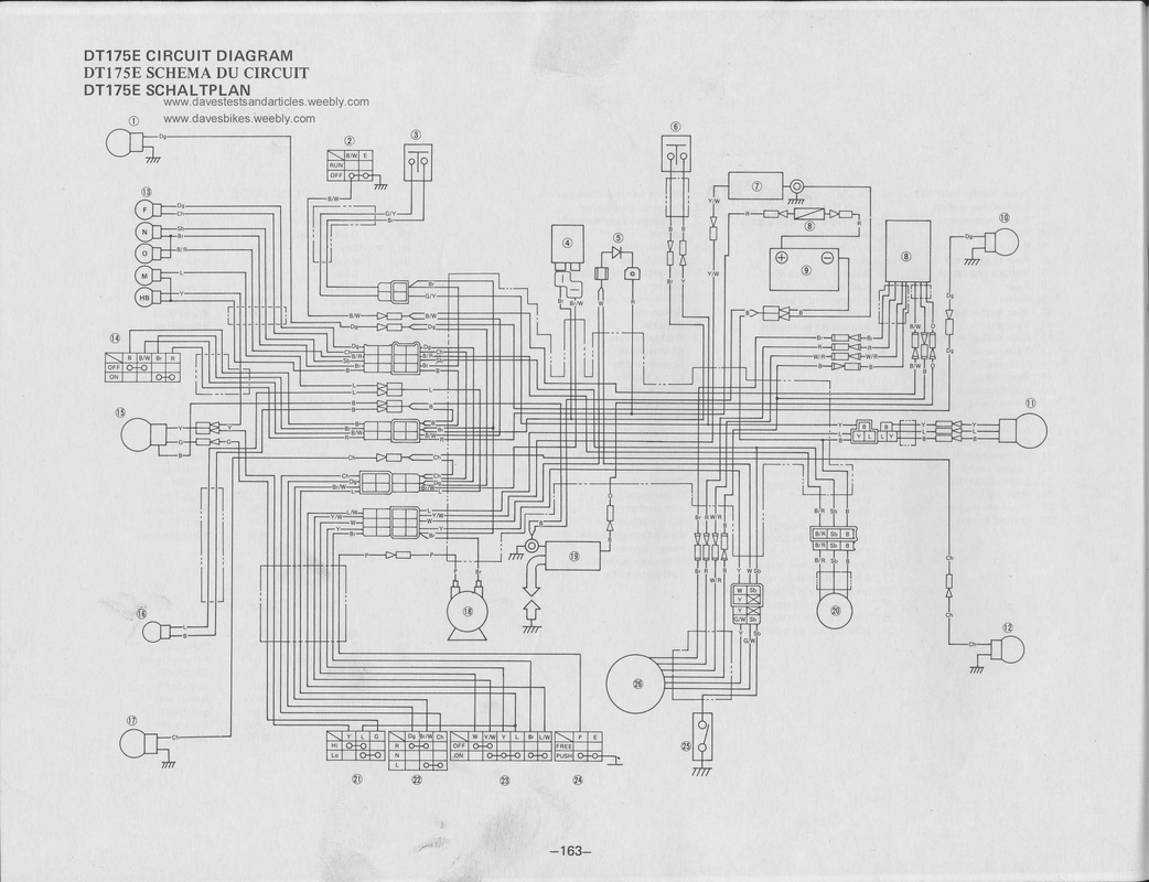 Yamaha it 465 wiring diagram